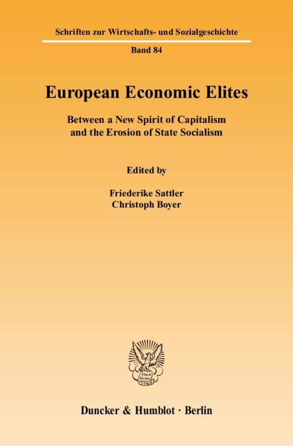 Cover European Economic Elites