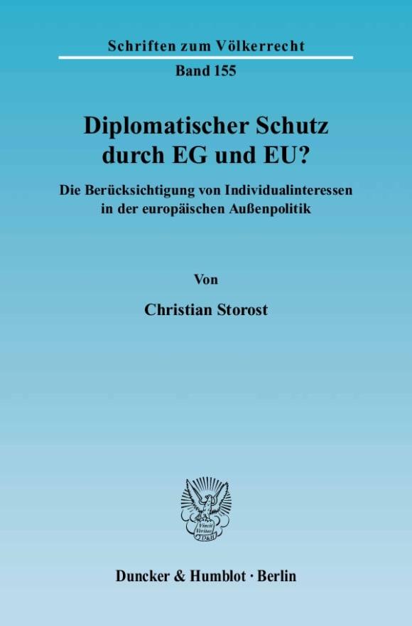 Cover Diplomatischer Schutz durch EG und EU?