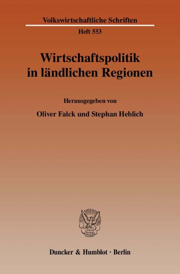 Cover Wirtschaftspolitik in ländlichen Regionen