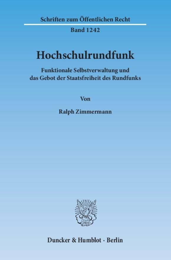 Cover Hochschulrundfunk