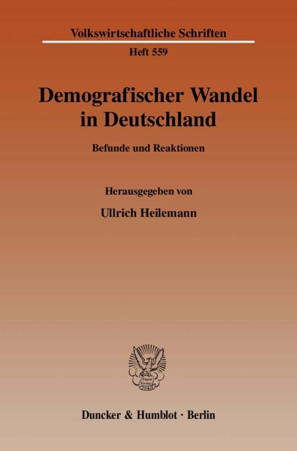 Cover Demografischer Wandel in Deutschland