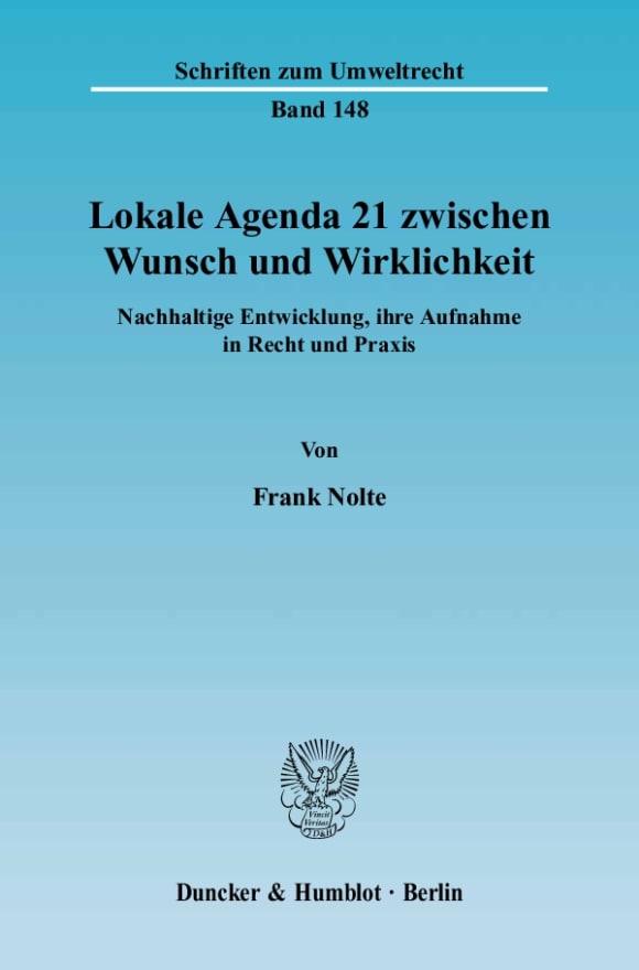 Cover Lokale Agenda 21 zwischen Wunsch und Wirklichkeit