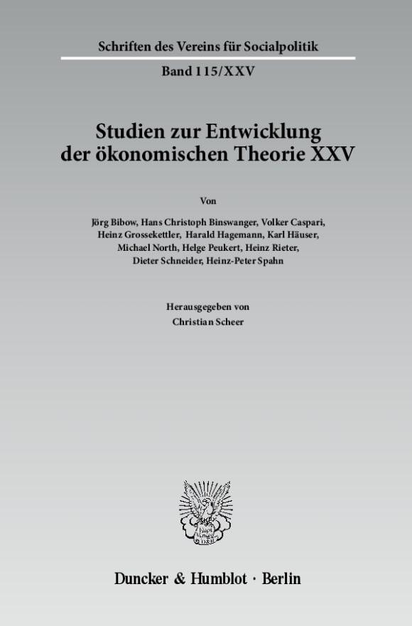 Cover Die deutschsprachige Wirtschaftswissenschaft in den ersten Jahrzehnten nach 1945