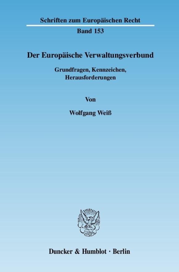 Cover Der Europäische Verwaltungsverbund