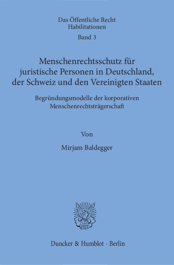 Cover Das Öffentliche Recht. Habilitationen (ÖRH)