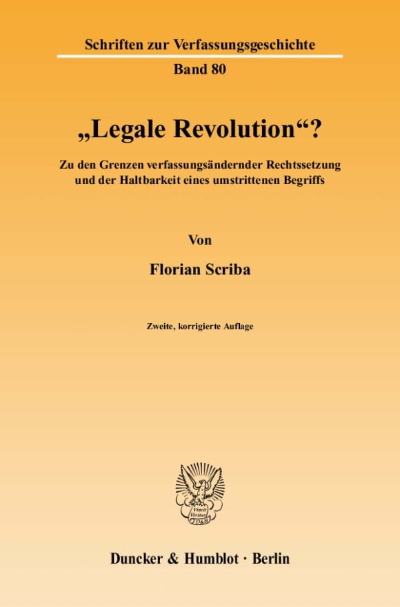 Cover »Legale Revolution«?