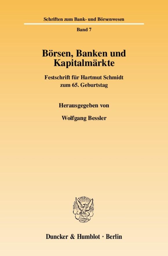 Cover Börsen, Banken und Kapitalmärkte