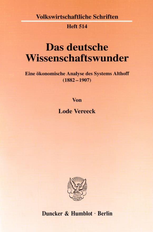 Cover Das deutsche Wissenschaftswunder