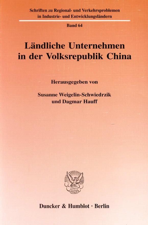 Cover Ländliche Unternehmen in der Volksrepublik China