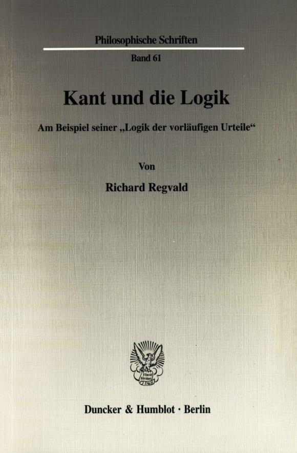 Cover Kant und die Logik