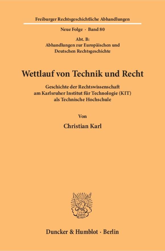 Cover Wettlauf von Technik und Recht