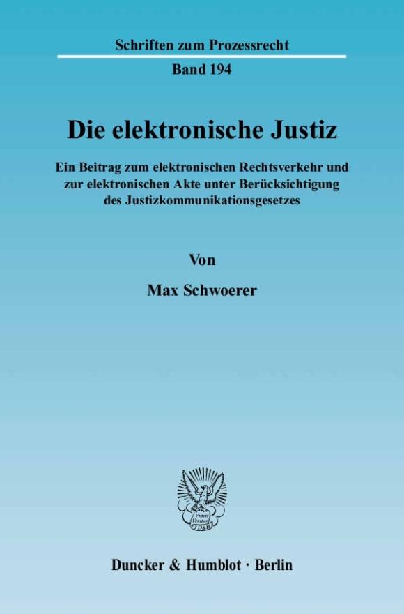 Cover Die elektronische Justiz