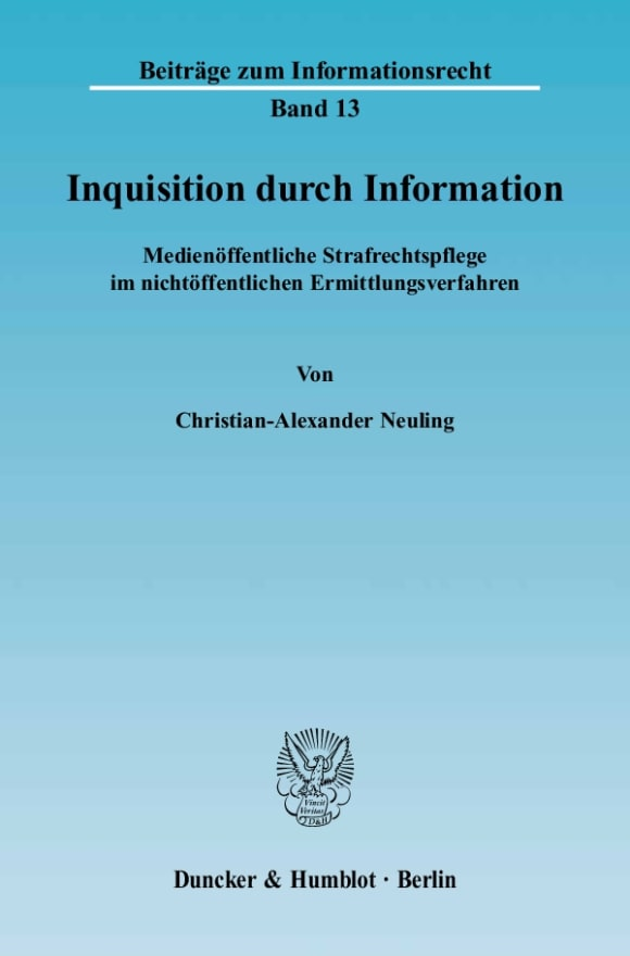 Cover Inquisition durch Information