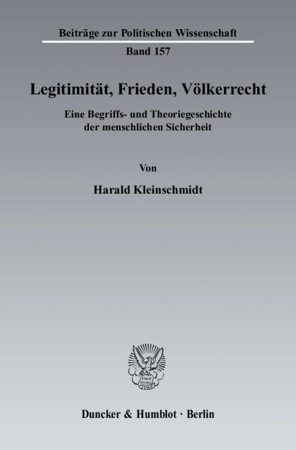 Cover Legitimität, Frieden, Völkerrecht