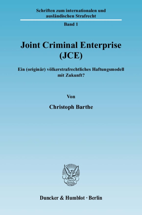 Cover Joint Criminal Enterprise (JCE)