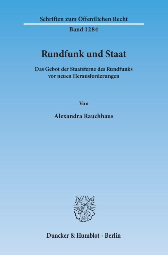 Cover Rundfunk und Staat