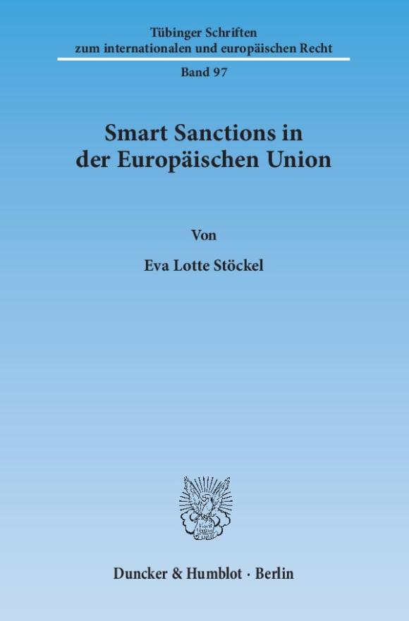 Cover Smart Sanctions in der Europäischen Union