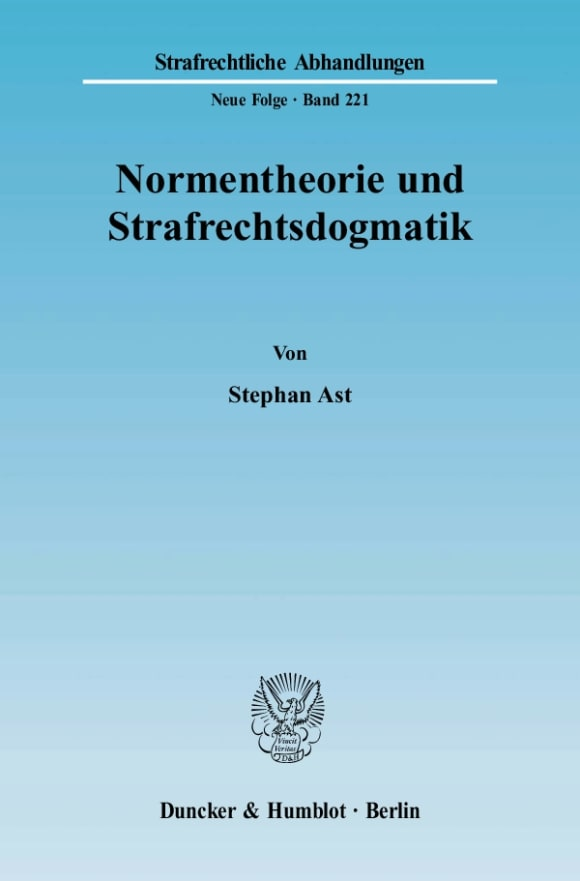 Cover Normentheorie und Strafrechtsdogmatik
