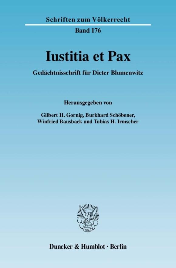 Cover Iustitia et Pax