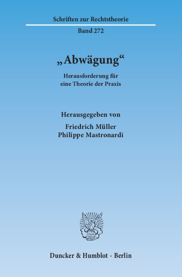 Cover »Abwägung«