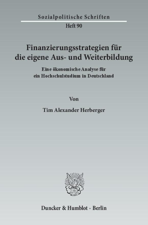 Cover Finanzierungsstrategien für die eigene Aus- und Weiterbildung