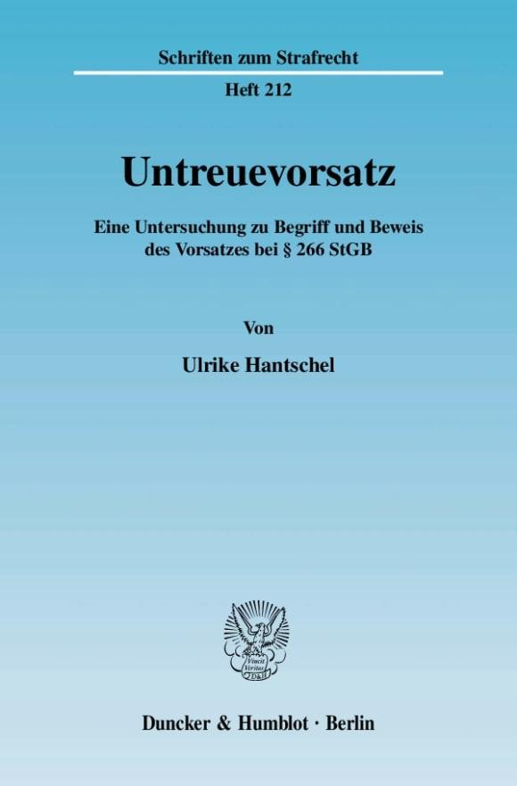 Cover Untreuevorsatz