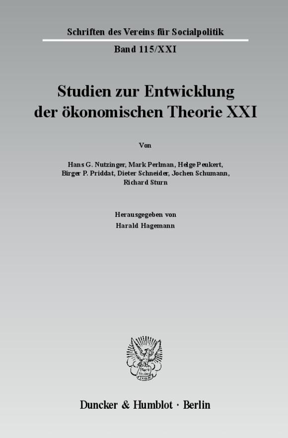 Cover Ökonomie und Religion