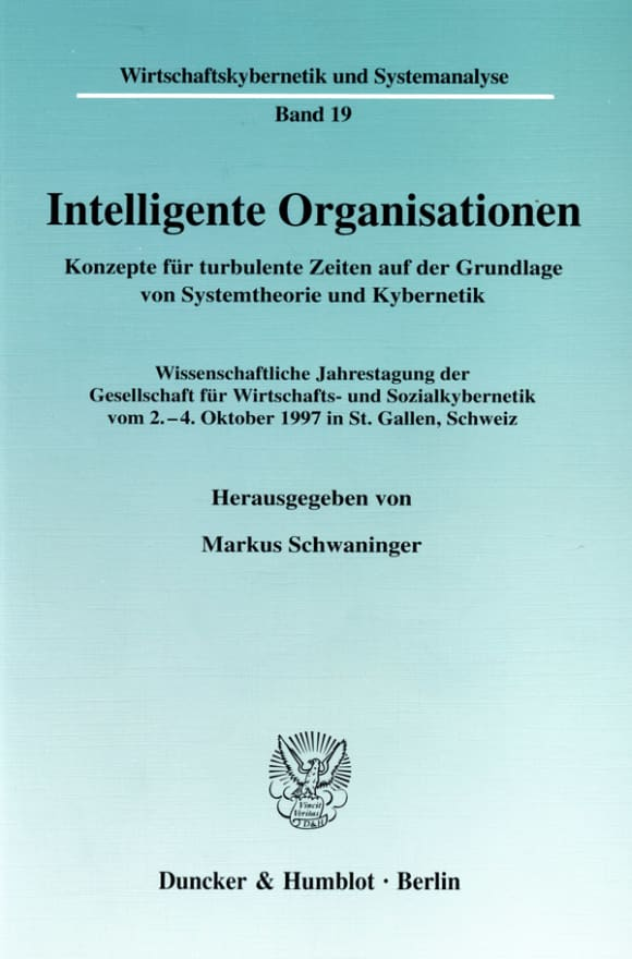 Cover Intelligente Organisationen