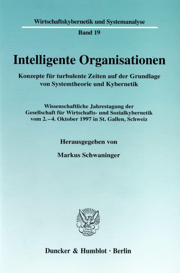 Cover Intelligente Organisationen