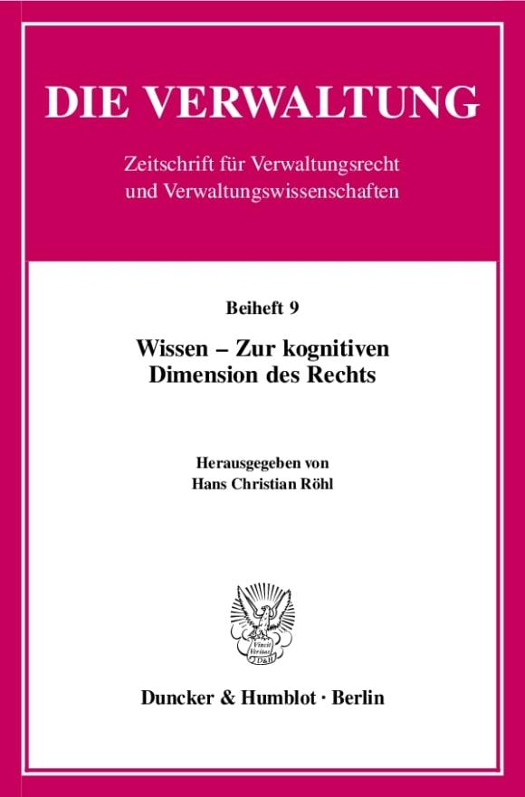 Cover Wissen - Zur kognitiven Dimension des Rechts