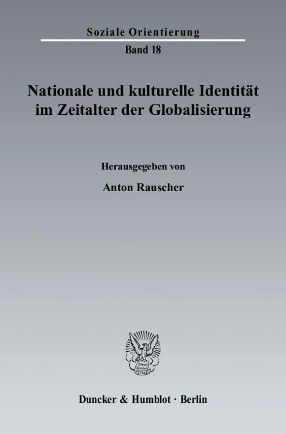 Cover Nationale und kulturelle Identität im Zeitalter der Globalisierung