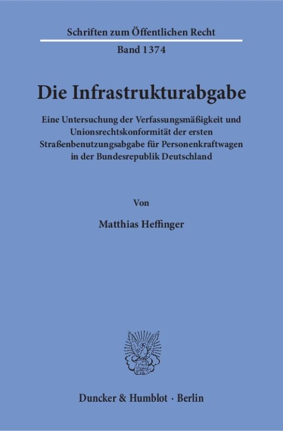 Cover Die Infrastrukturabgabe
