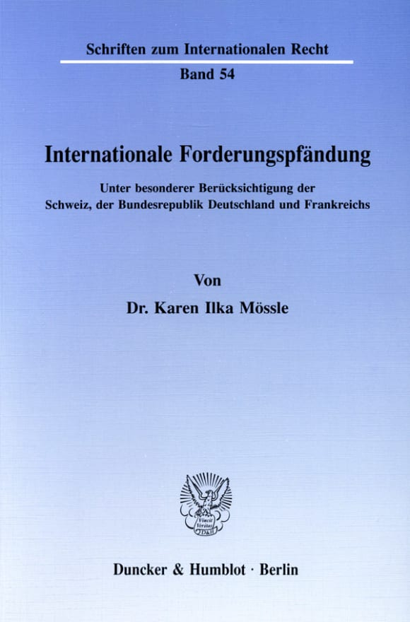 Cover Internationale Forderungspfändung