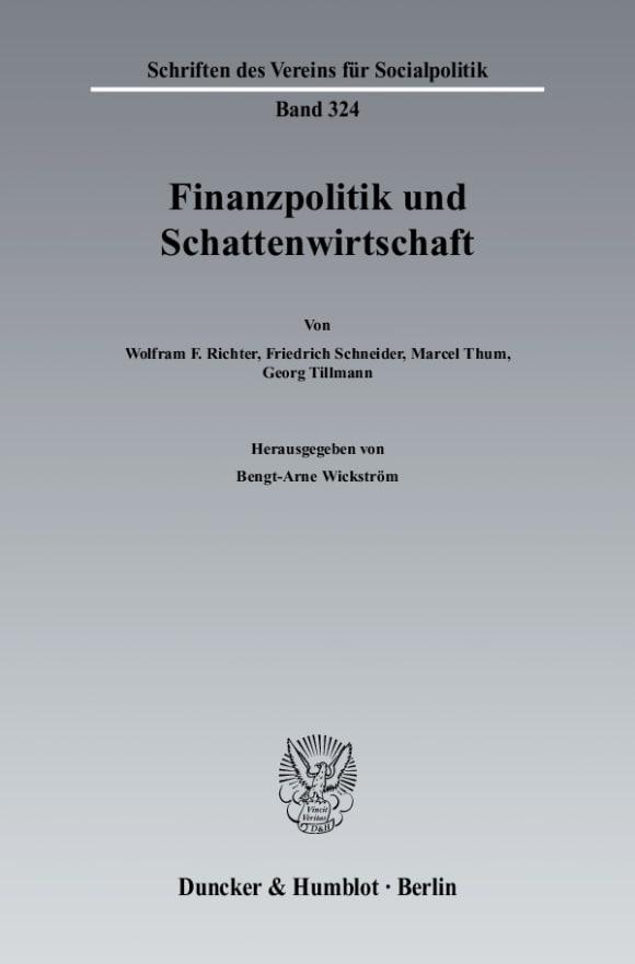 Cover Finanzpolitik und Schattenwirtschaft