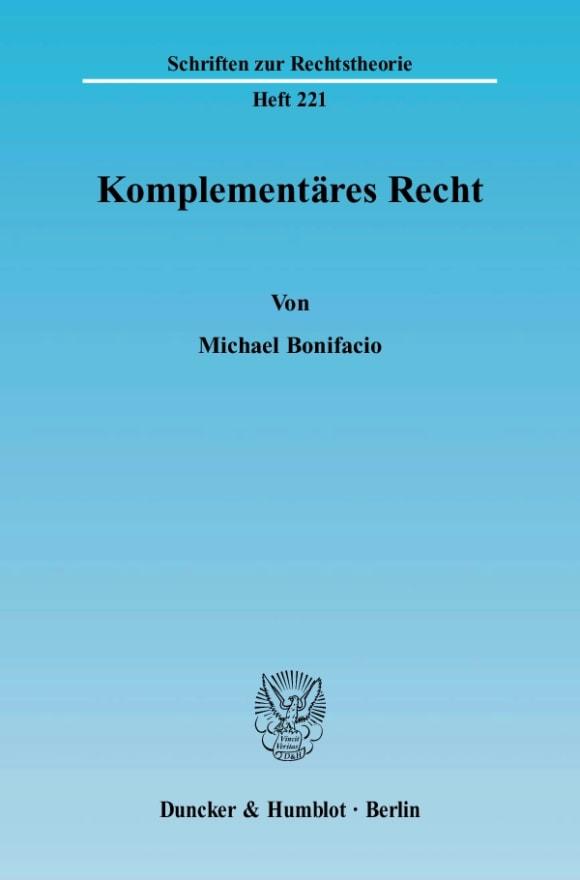 Cover Komplementäres Recht
