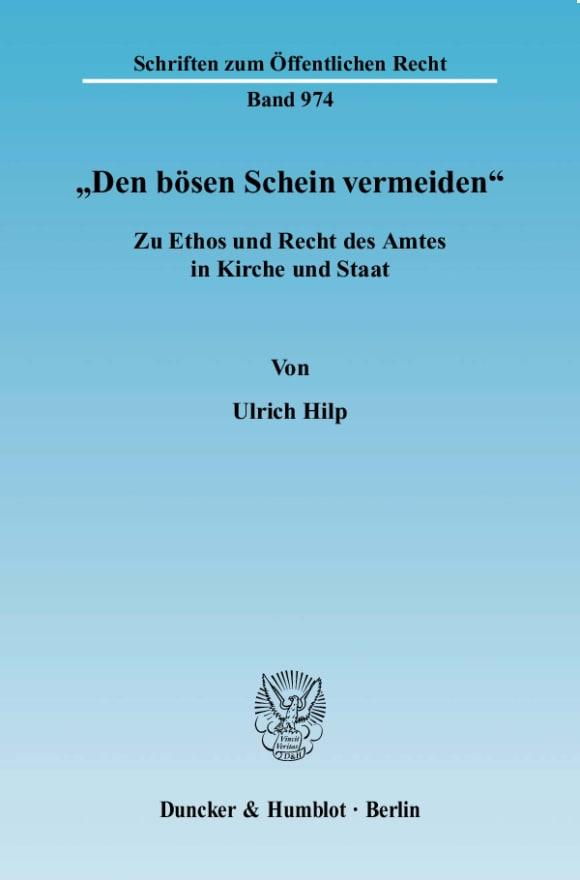"""Cover """"Den bösen Schein vermeiden"""""""