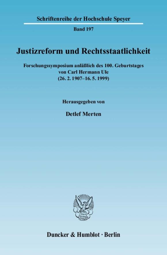 Cover Justizreform und Rechtsstaatlichkeit