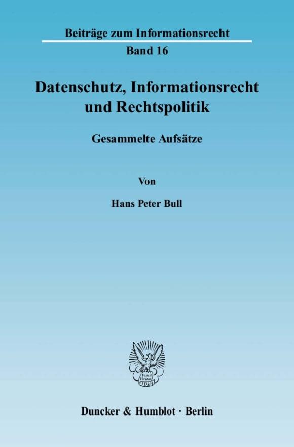 Cover Datenschutz, Informationsrecht und Rechtspolitik