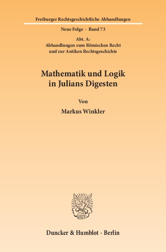 Cover Mathematik und Logik in Julians Digesten