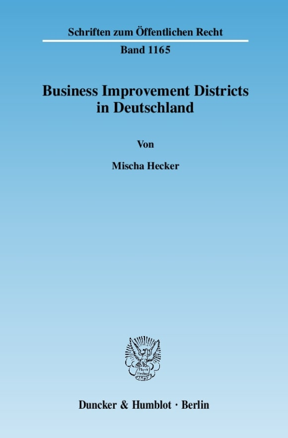 Cover Business Improvement Districts in Deutschland