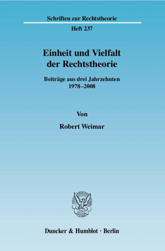 Cover Einheit und Vielfalt der Rechtstheorie