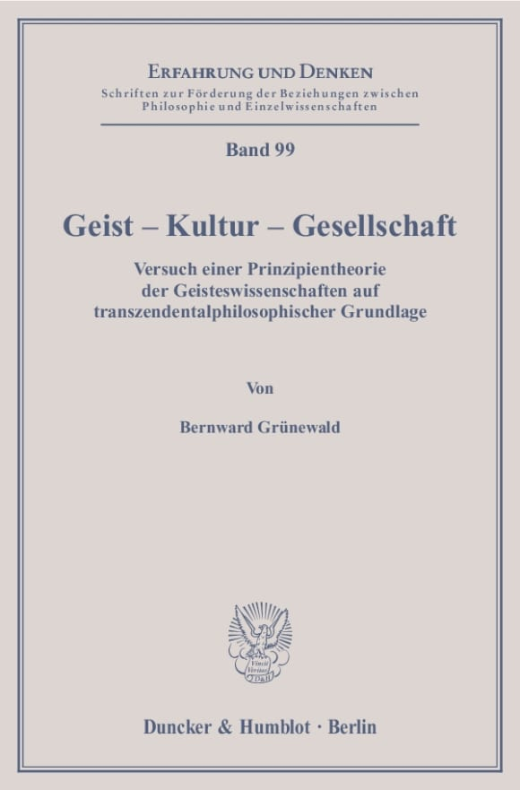 Cover Geist – Kultur – Gesellschaft