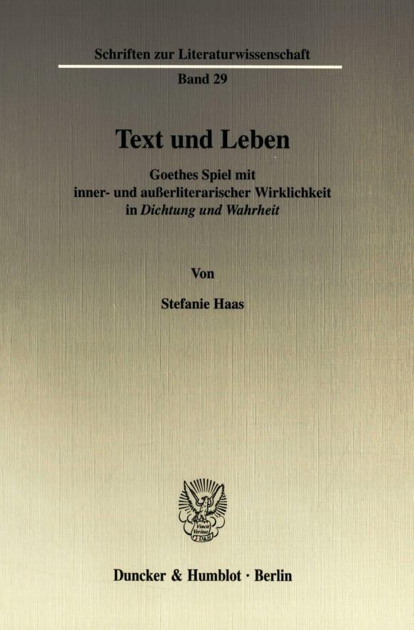 Cover Text und Leben