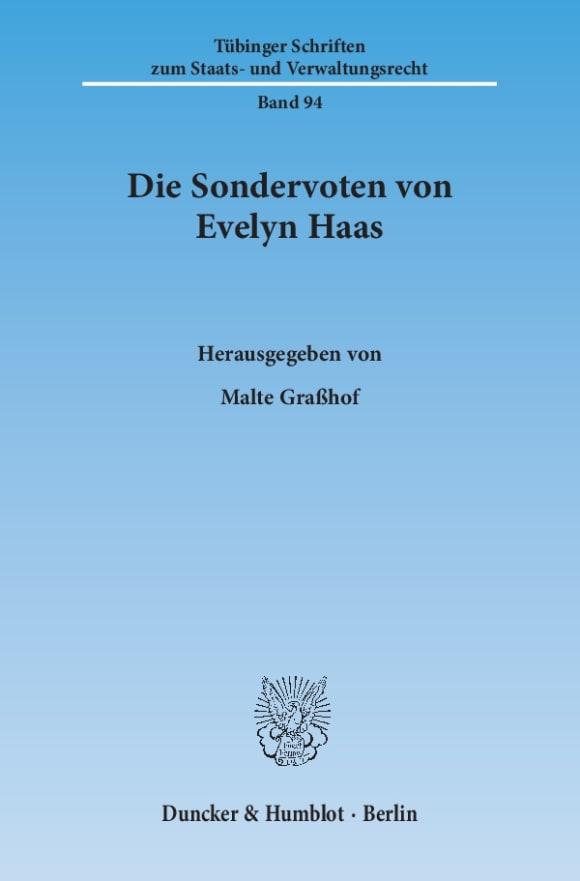 Cover Die Sondervoten von Evelyn Haas