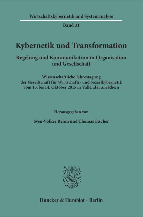 Cover Kybernetik und Transformation