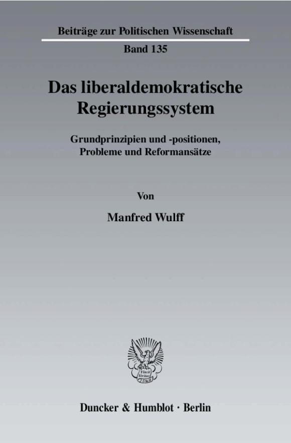 Cover Das liberaldemokratische Regierungssystem