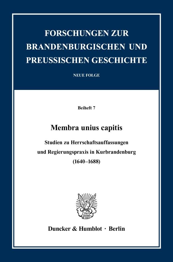 Cover Membra unius capitis