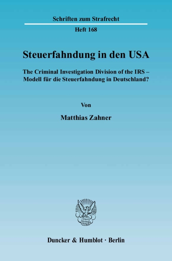 Cover Steuerfahndung in den USA