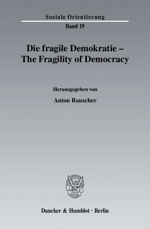 Cover Die fragile Demokratie / The Fragility of Democracy