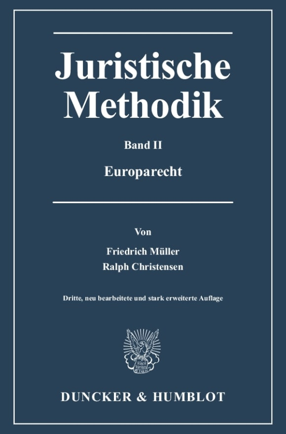 Cover Juristische Methodik